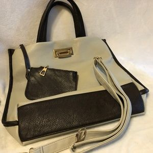 Large Pebbled Leather Shoulder Bag w/ Coin Pouch